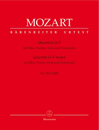 Mozart: Oboe Quartet: F: K370: Oboe and String Trio Parts