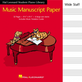Hal Leonard Student Piano Library: Music Manuscript Paper