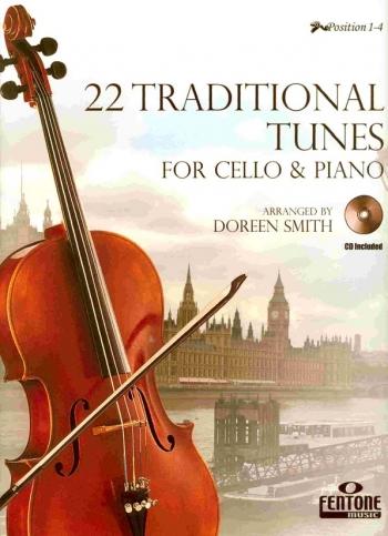 22 Traditional Tunes: Cello: Book & CD(Fentone)