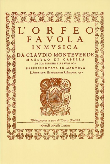 Orfeo: Vocal Score: English: Italian