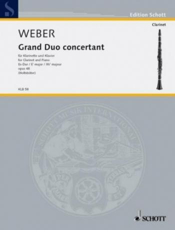 Grand Duo Concertant Op48: Clarinet & Piano (Schott)