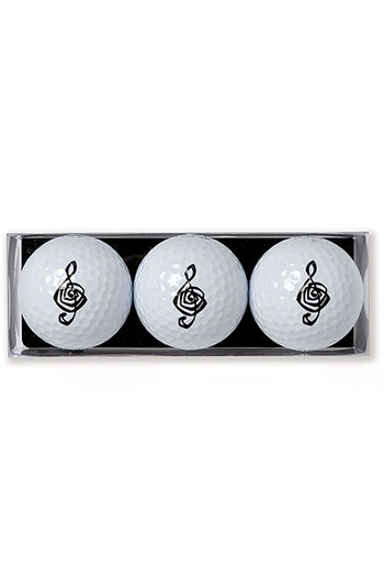 Golf Ball 3 Pack With Treble Clef Design