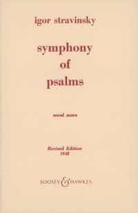 Symphony Of Psalms: Vocal Score