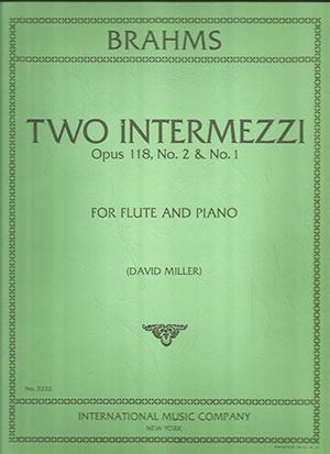 Two Intermezzi Op.118/1and2: Flute & Piano (Internationanl)