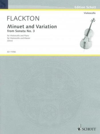 Minuet and Variaiton From Sonata: Cello & Piano  (Schott)