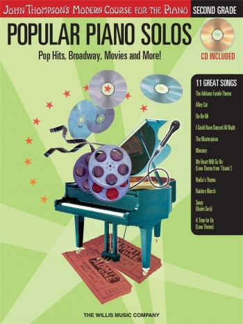 John Thompson's Popular Piano Solos: 2nd Grade - Pop Hits, Broadway, Movies And More! Bok & CD