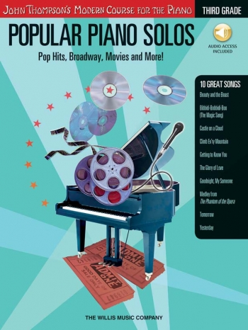 John Thompson's Popular Piano Solos: 3rd Grade - Pop Hits, Broadway, Movies And More! Book & CD