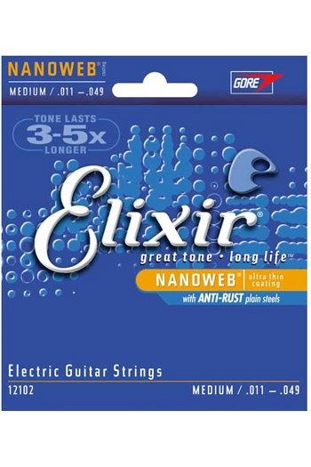 Elixir Nanoweb Medium Electric Guitar