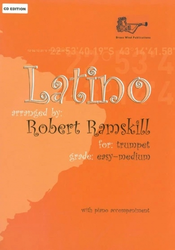 Latino: Trumpet:  Easy/Medium : Trumpet & Piano: Book & Cd