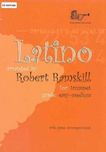 Latino: Trumpet:  Easy/Medium : Trumpet & Piano: Bk&Cd