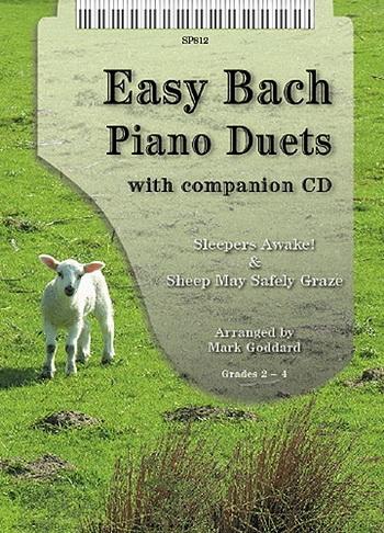 Easy Bach Duets: Piano Duet: Gr 2-4: Book & Cd (goddard)