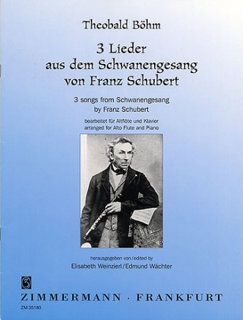 3 Lieder: Songs From Schwanengesang: Flute & Piano (Zimerman)
