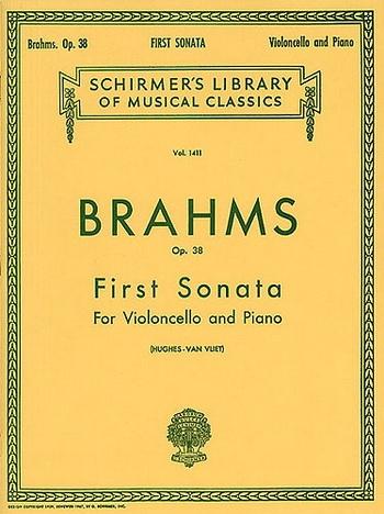 Sonata E Minor No.1 Op.38: Cello & Pianoo (Schirmer)