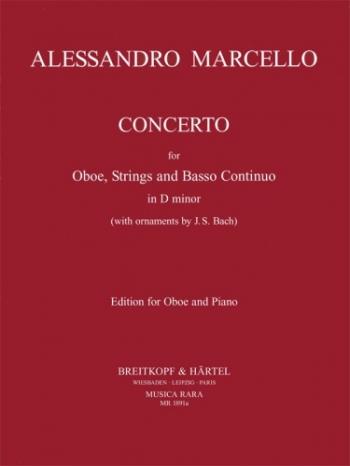 Concerto: D Minor Oboe & Piano (Musica Rara)