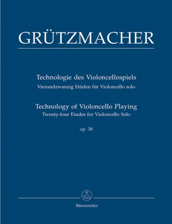 Technology Of Violoncello Playing: 24 Cello Etudes: Op38 (Barenreiter)