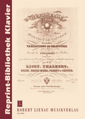 Studies - Piano - Reprint Biblothek Klavier (Ricordi)
