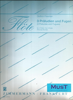 3 Preludes And Fugues: Flutes