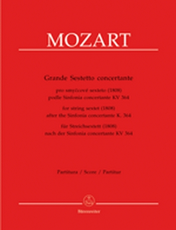 Mozart: Grande Sestetto Concertante: String Sextet: Kv364: Parts