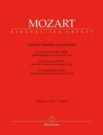 Mozart: Grande Sestetto Concertante: String Sextet: Kv364: Score