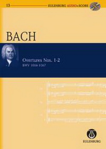 Overture No 1-2  Bwv1066-1067 : Miniature Score (Audio Series No13)