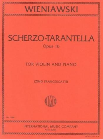 Scherzo-Tarantella: Violin and Piano