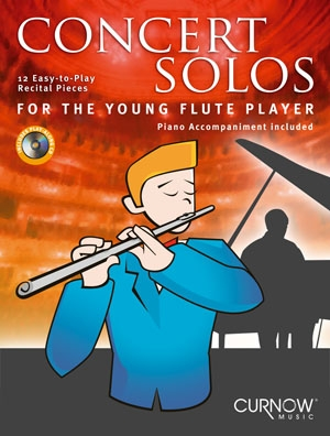 Concert Solos For The Young Flute Player: Flute & Piano: Bk&cd