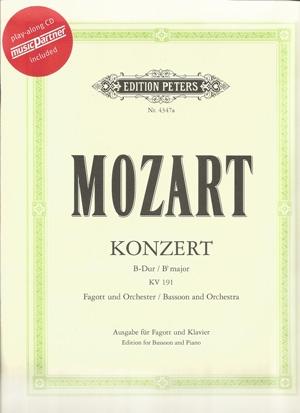 Bassoon Concerto Bb Major: Kv191: Book & CD (Peters)