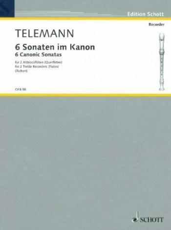 6 Sonaten In Canon: 2 Treble Recorders