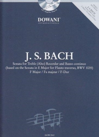 Sonata For Treble (Alto)F Major: Recorder and Piano (Dowani)