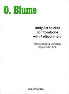 36 Studies For Trombone With F Attachment (blume/finke)