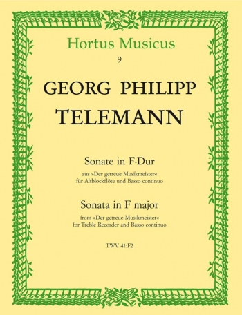 Sonata: F Major: Treble Recorder and Piano (Hortus Musicus)