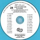 24 Jazz Etudes: Alto Saxophone: Cd (Holcombe)