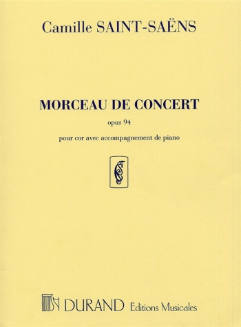Morceau De Concert: Op94: French Horn & Piano  (Durand)