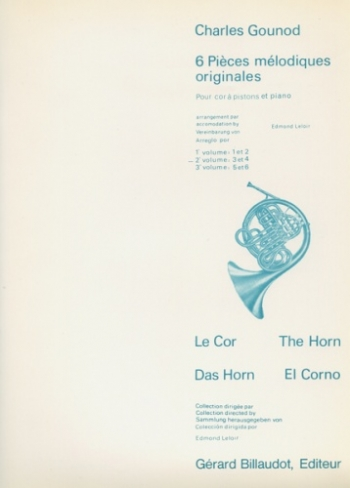 Six Pieces Melodiques Originales:  Vol 2: French Horn