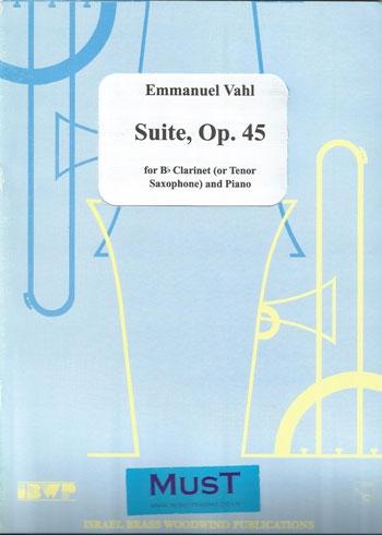 Suite Op45: Clarinet Or Tenor Sax & Piano