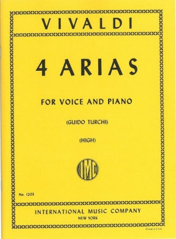 4 Arias: Voice and Piano