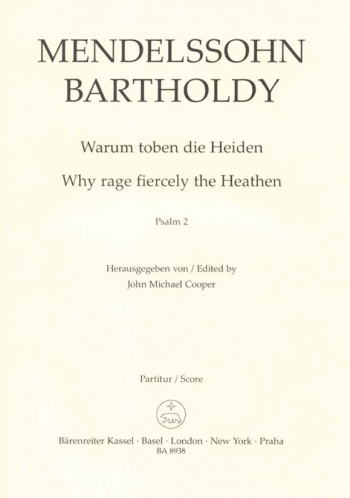Why Rage Fiecely The Heathen : Psalm 2: Vocal Score Satb (Cooper)