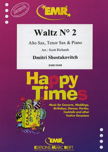 Waltz No.2: Alto Saxophone and Tenor Saxophone and Piano