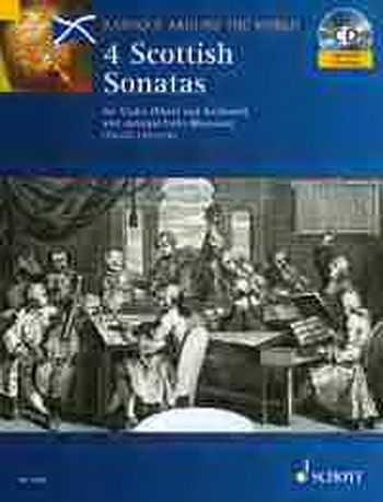 Baroque Around The World: 4 Scottish Sonatas - Violin Or Flute And Keyboard: Book & Cd