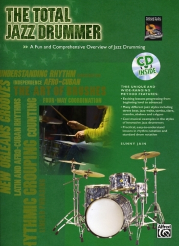 Alfred Total Jazz Drummer: Book and Cd