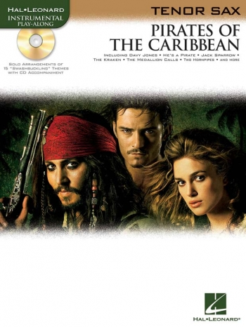 Pirates Of The Caribbean: Tenor Sax: Book & CD