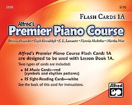 Alfred Premier Piano Course 1a: Flashcards