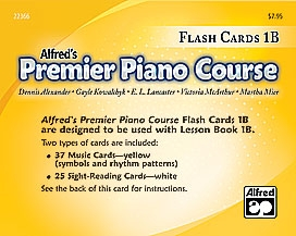 Alfred Premier Piano Course 1b: Flashcards