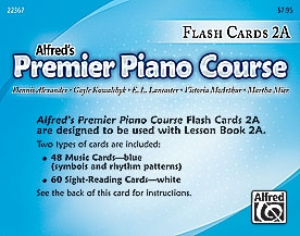 Alfred Premier Piano Course 2a: Flashcards