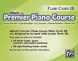 Alfred Premier Piano Course 2b: Flashcards