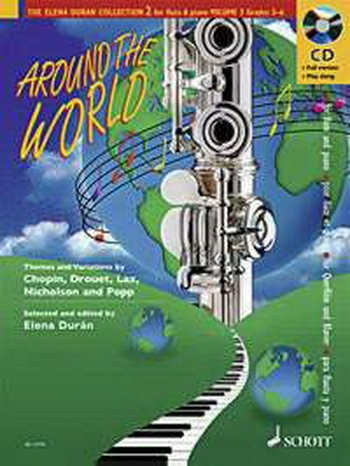 Duran Collection: Around The World: Gr 6-8: Flute & Piano Book & Cd (Schott)