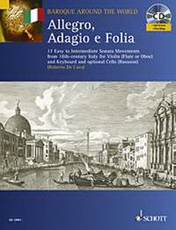 Baroque Around The World: Allegro Adagio E Follia: Violin Or Flute and Keyboard