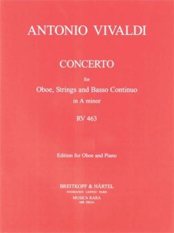 Concerto: A Minor: Rv643 Oboe & Piano (Breitkopf)