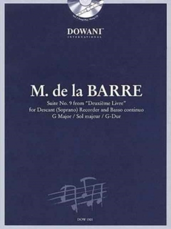 Suite No.9: From Deuxieme Livre: Descant Reocrder and Piano (Dowani)