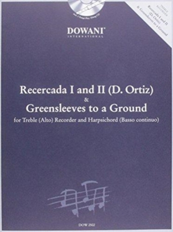 Recercada 1 and 3: Greensleeves To A Ground: Treble Reocrder and Piano (Dowani)